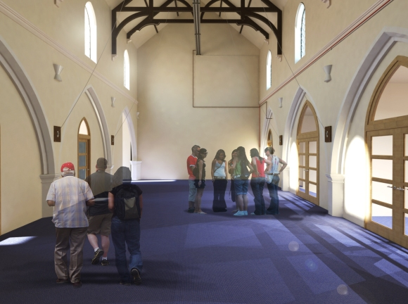 Artists impression of the refurbished hall